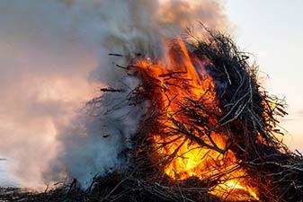 Biiker-Brennen auf Amrum
