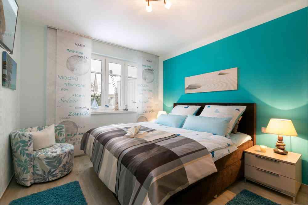 Ferienwohnung In Zingst - Objekt 9898 - Ab 69 Euro Schlafzimmer Maritim