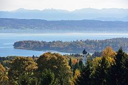 Der Starnberger See von oben