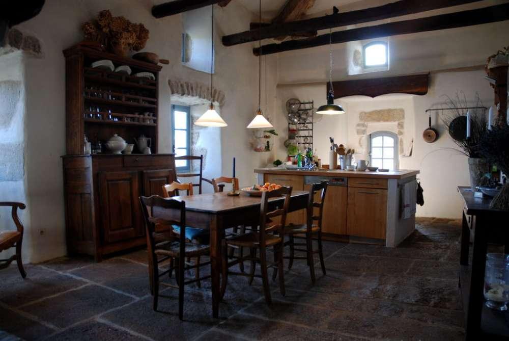 ferienhaus in les vans - objekt 10211 - ab 130 euro - Esszimmer Landhaus Flair