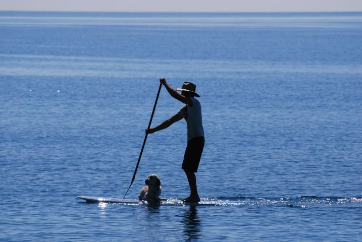 Stand-Up Paddle auf dem See